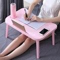 Dobrável portátil mesa notebook mesa do computador pequeno-almoço servindo bed bandejas ajustável dobrável flip topo pernas mini mesa de escritório