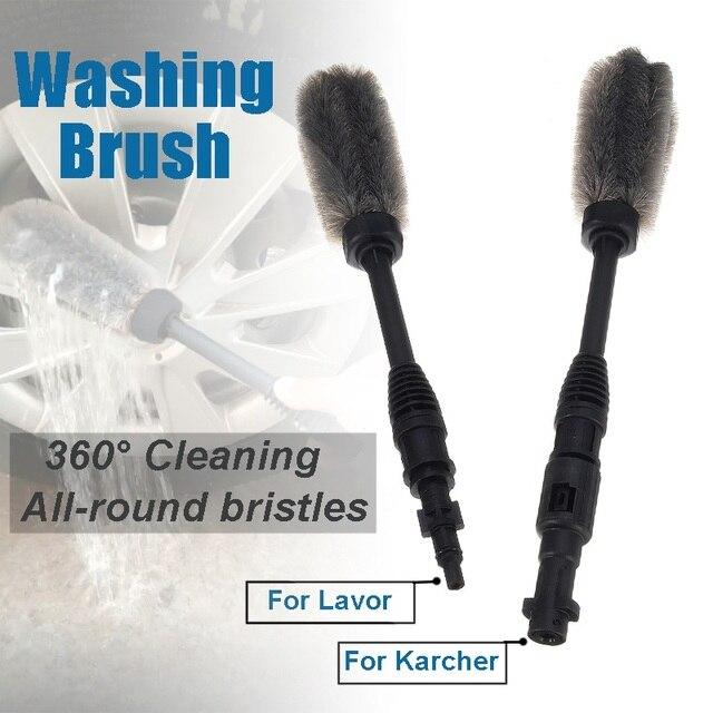 Escova longa da lavagem do carro do punho para o fluxo da espuma da água de lavor/karcher k2 k7