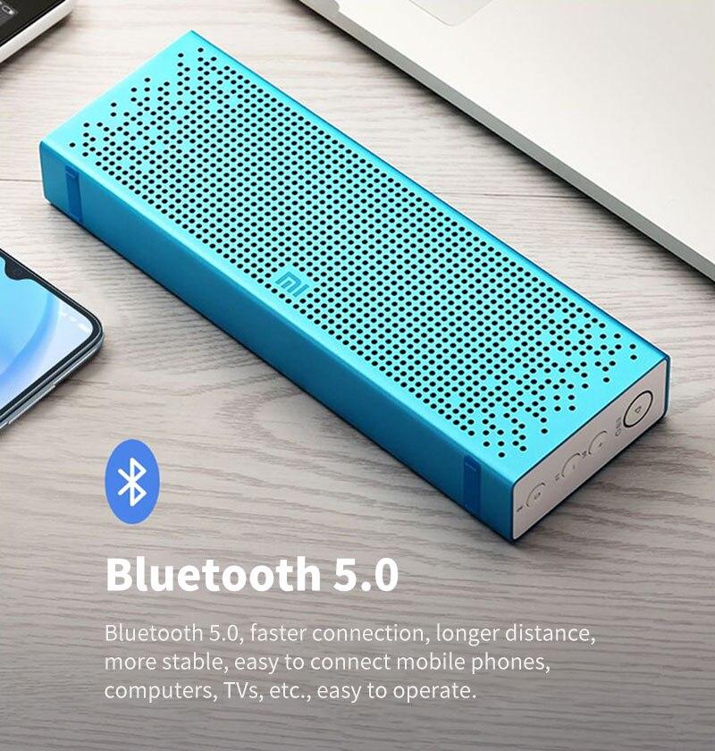 Xiaomi Bluetooth 5.0 haut-parleur Mini sans fil en métal stéréo Portable mains libres petit amour Version musique lecteur MP3 - 6