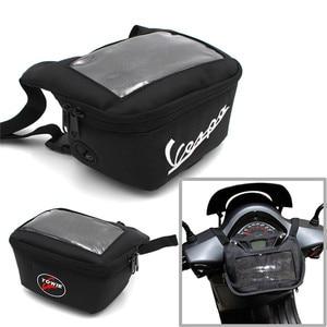 Image 1 - Motorcycle Handlebar Bag For tmax 560 530 vespa gts 300 hpe The Windscreen Bag Fuel Tank Bag Mobile Phone Touch Screen Earphone