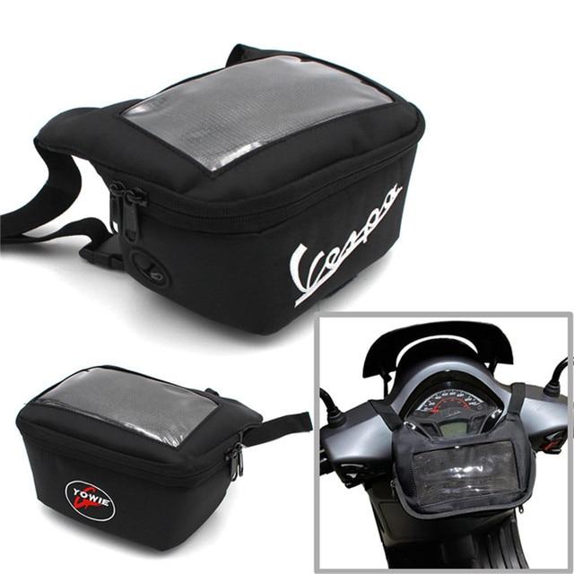Motorcycle Handlebar Bag For tmax 560 530 vespa gts 300 hpe The Windscreen Bag Fuel Tank Bag Mobile Phone Touch Screen Earphone