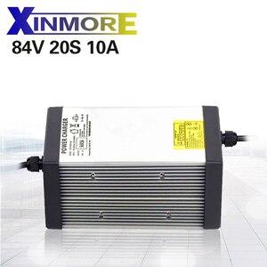 Image 1 - XINMORE 84V 10A 9A 8A ליתיום סוללה מטען עבור 72V e אופני ליתיום סוללות AC DC כוח אספקת חשמלי כלי
