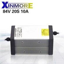 XINMORE 84V 10A 9A 8A ładowarka akumulatorów litowych do 72V e bike akumulator litowo jonowy AC DC zasilacz do elektronarzędzie
