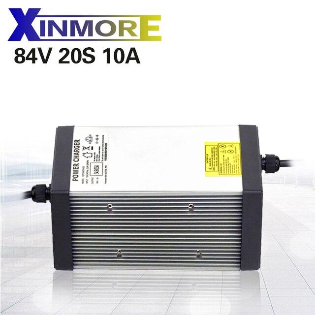 XINMORE 84V 10A 9A 8A chargeur de batterie au Lithium pour 72V e bike Li Ion batterie Pack AC DC alimentation pour outil électrique