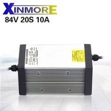 XINMORE 84V 10A 9A 8A lityum pil şarj cihazı 72 ı ı ı ı ı ı ı ı ı ı ı ı ı ı ı ı ı ı ı ı bisiklet Li Ion pil paketi AC DC güç kaynağı elektrikli alet pil paketi