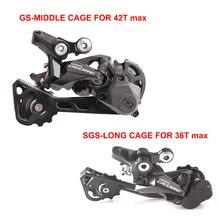 SHIMANO DEORE RD M6000 10 скоростей SGS GS длинная средняя клетка MTB велосипедный задний переключатель