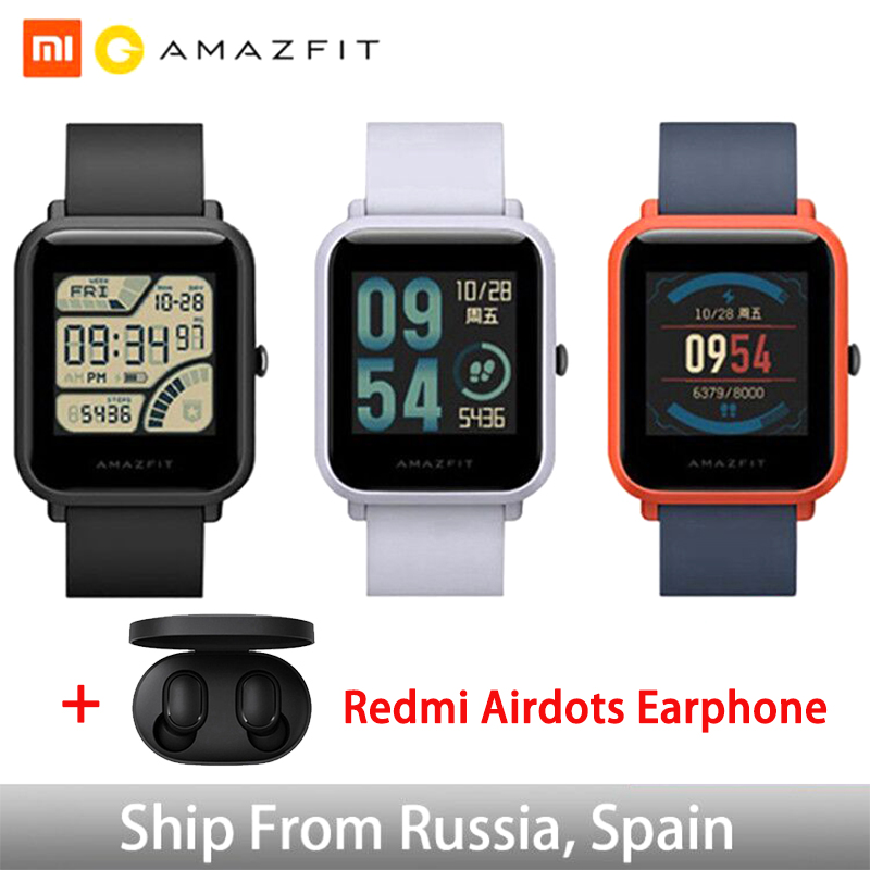 Huami Xiaomi Amazfit Bip versión Global reloj inteligente inglés/español/ruso GPS Smartwatch Android iOS Monitor de ritmo cardíaco