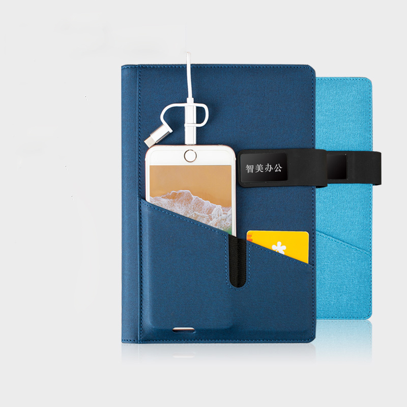 2020 Business Notebook Travelers Notebook & Power Bank A5 Note Book Binder Spiral Diary Planner Agenda Storage Cash Bank Card