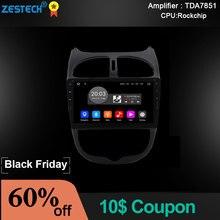 Zetech 9 дюймов Android автомобильный Радио dvd-плеер для peugeot 206 Play And Plug Автомобильный gps навигатор мультимедийный Руль управления