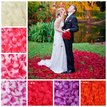 100PCS/Bag 5*5CM Silk Rose Petals for Wedding Decoration Romantic Artificial Rose Flower 40Colors Wedding Accessories