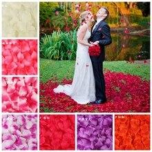 Pétalos de rosa de seda para decoración romántica para boda, 5x5CM, accesorios de boda, 40 colores, 100 unidades/bolsa