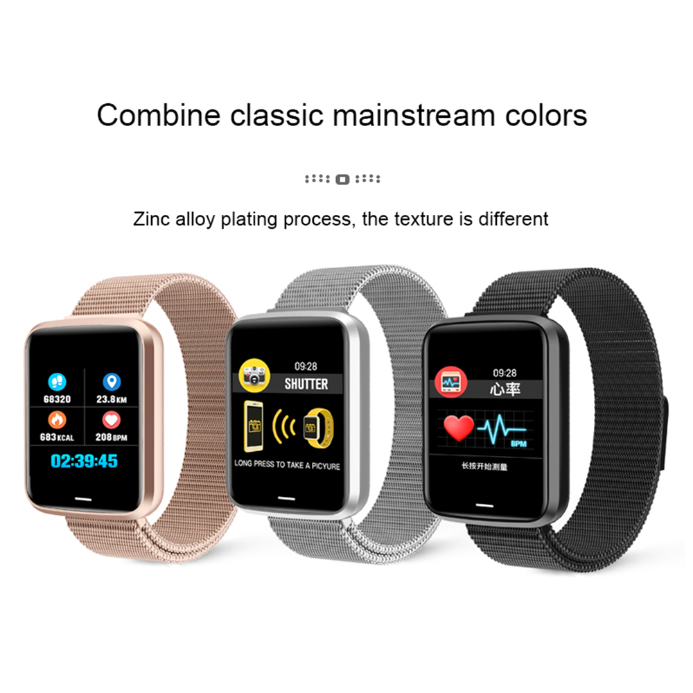 H19 Women Men Smart Watch For Android IOS Electronics Smart bracelet Clock Fitness Tracker Silicone Strap sports Smartwatch