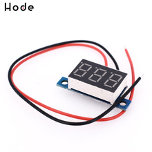 DC 3.3V - 17V 3-Digit Display Voltmeter 0.36 Inch Mini LED Digital Voltmeter Red Panel Voltage Meter 3 digit blue led digital voltmeter meter module 3 3 17v