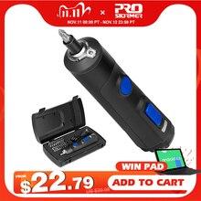 4V Mini Cacciavite Elettrico Set USB Ricaricabile Intelligente Cordless Elettrico Manico del Cacciavite con 32 + 1 Bit Set da PROSTORMER