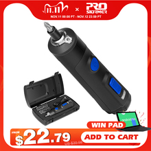 4V מיני חשמלי מברג סט USB נטענת חכם אלחוטי חשמלי מברג ידית עם 32 + 1 קצת סט על ידי PROSTORMER