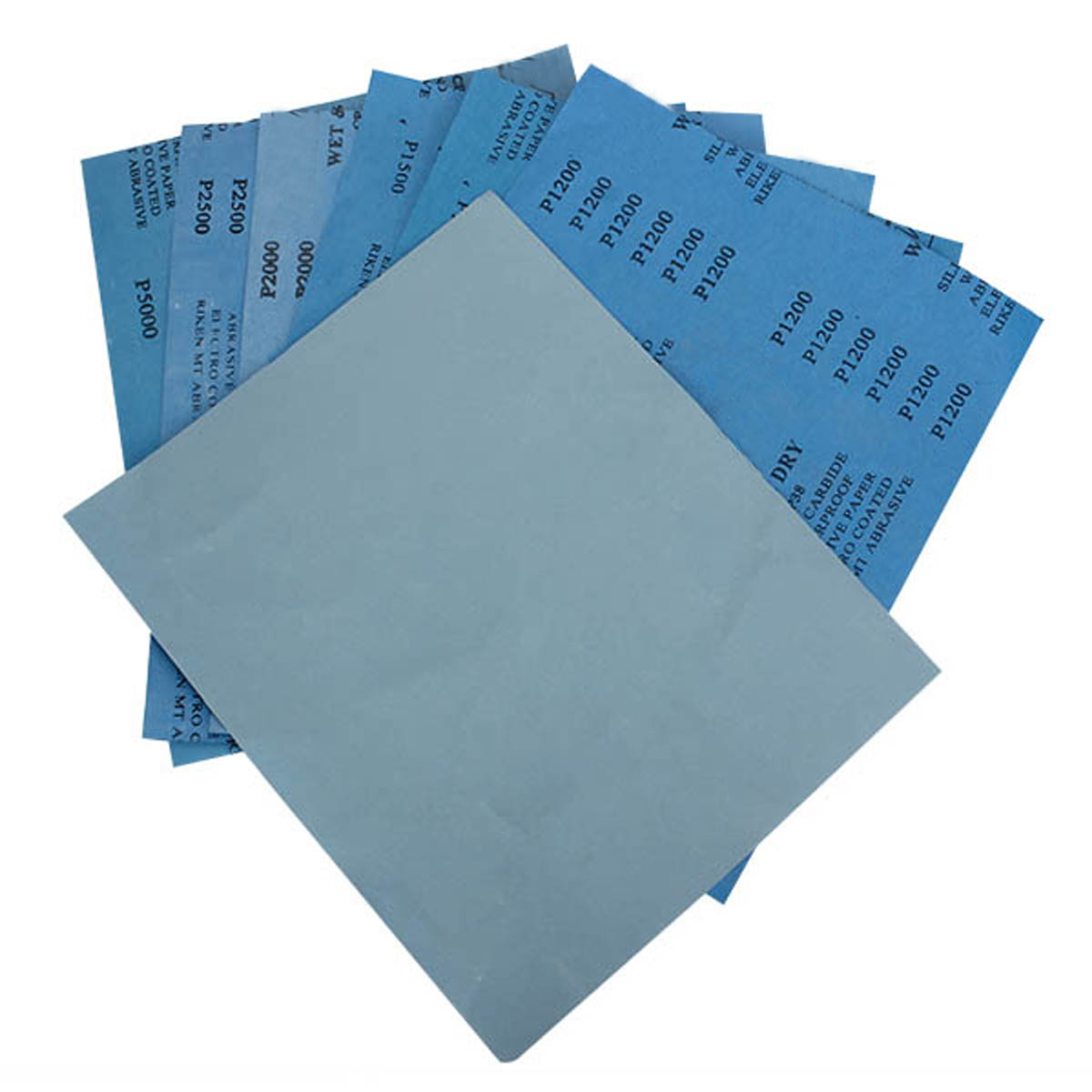 2pcs of ech Grit 1500 2000 2500 3000 5000 7000 Sanding sheet Grit 1500 to 7000 Wet//dry Sandpaper Sheets Precision Polishing Sanding