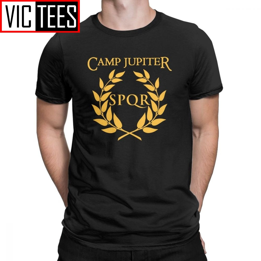 Men SPQR T-Shirt Camp Jupiter Rick Riordan Percy Jackson T Shirt Men Summer Style Tops Funny Cotton Tees
