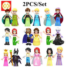 Princess Girls Friends Party Maleficent Mermeid Ariel Prince Eric Building Blocks Toys Birthday Gifts(China)