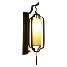 Hotel corridor Chinese wall lamp,banquet hall tea house wall lamp bedside lobby bedroom living room wall sconce bra wall light(China)