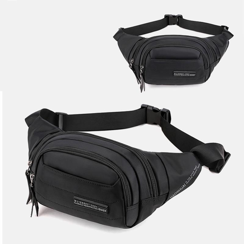 Nylon Men Hip Belt Waist Bags Travel Military Pouch Bum Cross Body Messenger Sling Chest Fanny Pack Bag