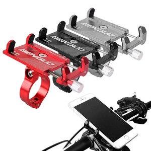 Image 1 - אופניים קטנוע אלומיניום סגסוגת נייד טלפון מחזיק MTB הרי אופני סוגר טלפון סלולרי Stand רכיבה על אופניים אבזרים
