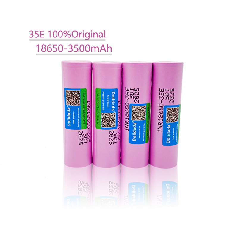 1/2/4/6/8/10PCS 100% Original 18650 3500mAh 20A discharge INR18650 35E 3500mAh 18650 battery Li-ion 3.7v rechargable Battery