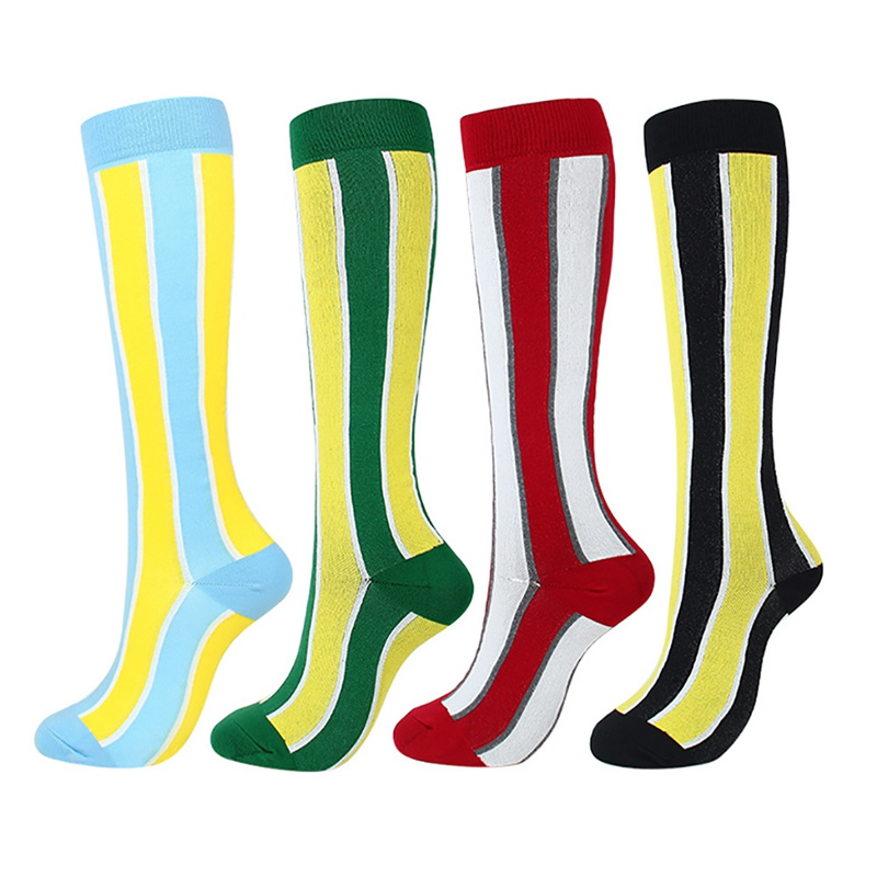 H17ab10c45b874427a3a3f0f9aaa1a8f3r - New Autumn Women Men Knee-High Socks Long Printed Casual Style Hosiery Footwear Accessories Fashion Compression Socks