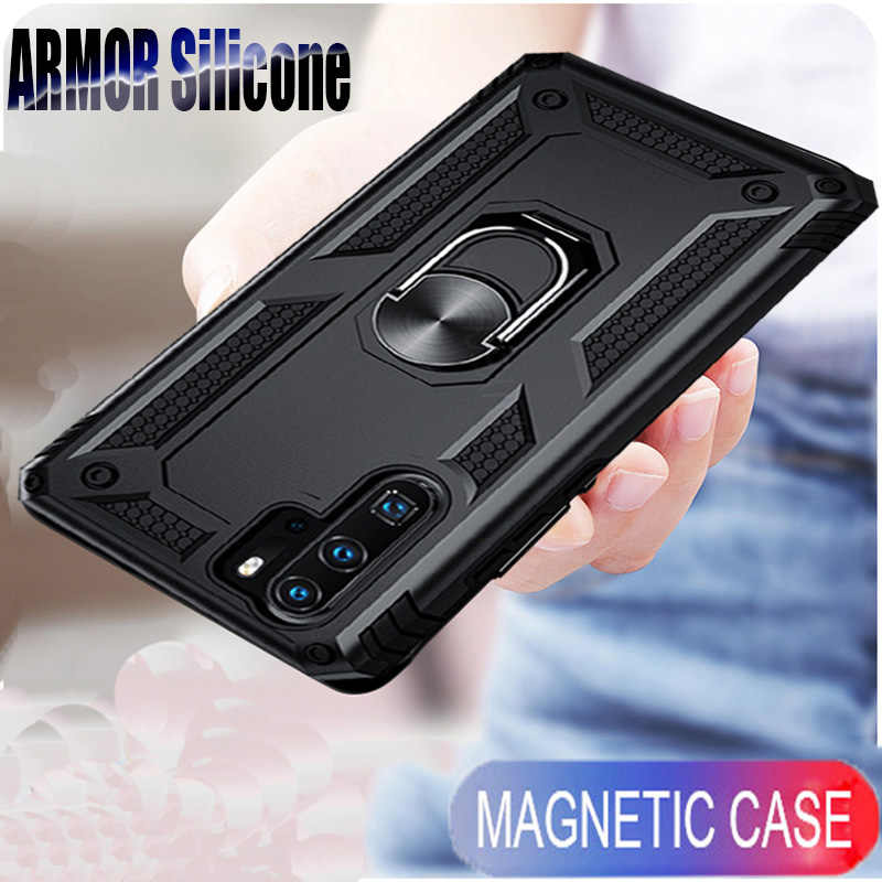 Shockproof Ring Bumper Cover On The For Huawei P30 Mate 20X Pro Honor 10 P20 Lite Y5 Y6 Y7 Y9 P Smart Z 2019 Soft Cases Coque