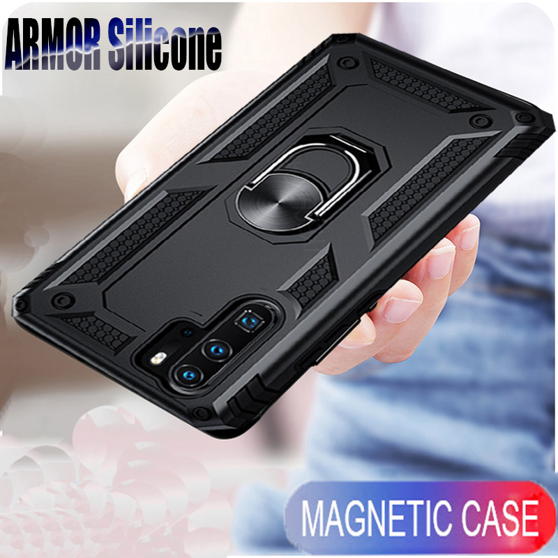 Shockproof Ring Bumper <font><b>Cover</b></font> On The For <font><b>Huawei</b></font> P30 Mate 20X Pro Honor 10 P20 Lite Y5 Y6 <font><b>Y7</b></font> Y9 P Smart Z <font><b>2019</b></font> Soft <font><b>Cases</b></font> <font><b>Coque</b></font> image
