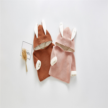 Baby Boys Clothes Bunny Ears Cashmere Boys Jackets Autumn Winter Kids Jacket for Girls Hoodies Jacket Outerwear Baby Outfit