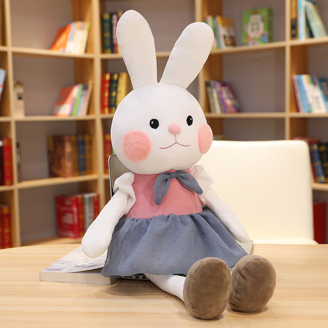 Rabbit Plush Toys Cute Bunny Animal Plush Toy Kawaii Cartoon Stuffed Dolls Home Decor for Kids Birthday Gift Bunny Stuffed Doll