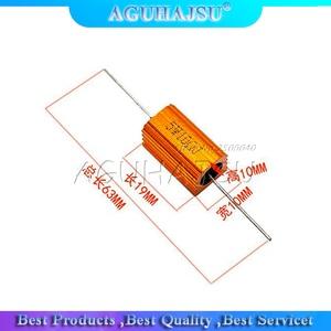 2 шт. 5 Вт алюминиевый мощный металлический корпус чехол проволочный резистор 0,1 ~ 10K 0,33 0,5 1 2 5 6 8 10 20 50 100 120 200 300 1K 5K 10K ohm