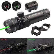 Caça tático vermelho/verde ponto mira laser interruptor ajustável 532nm montagem ponteiro laser rifle arma escopo com ponto lazer