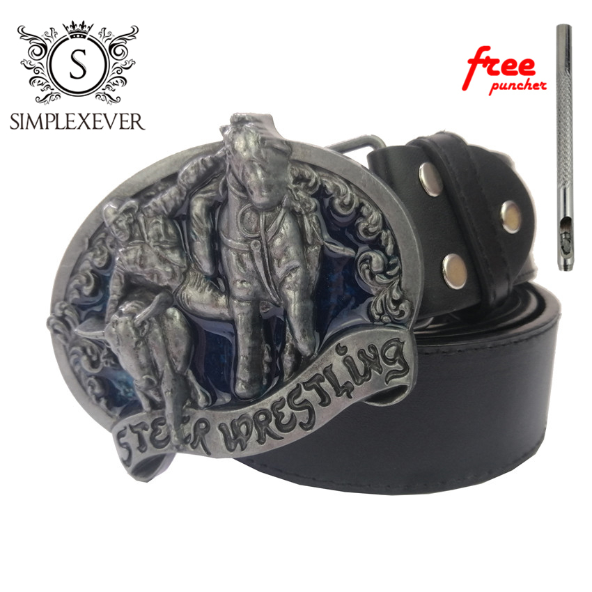 Horse Belt Buckles For Men Women Animal Western Belt Buckles Metal Cowboy Cowgirl Belt Buckle With Leather Belt