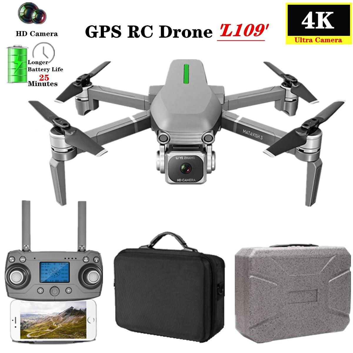 L109 S Радиоуправляемый Дрон Квадрокоптер 4K HD камера 5G WiFi gps Дроны с одним ключом возврат высоты удержание 800 м WiFi изображение расстояние Дрон игрушки