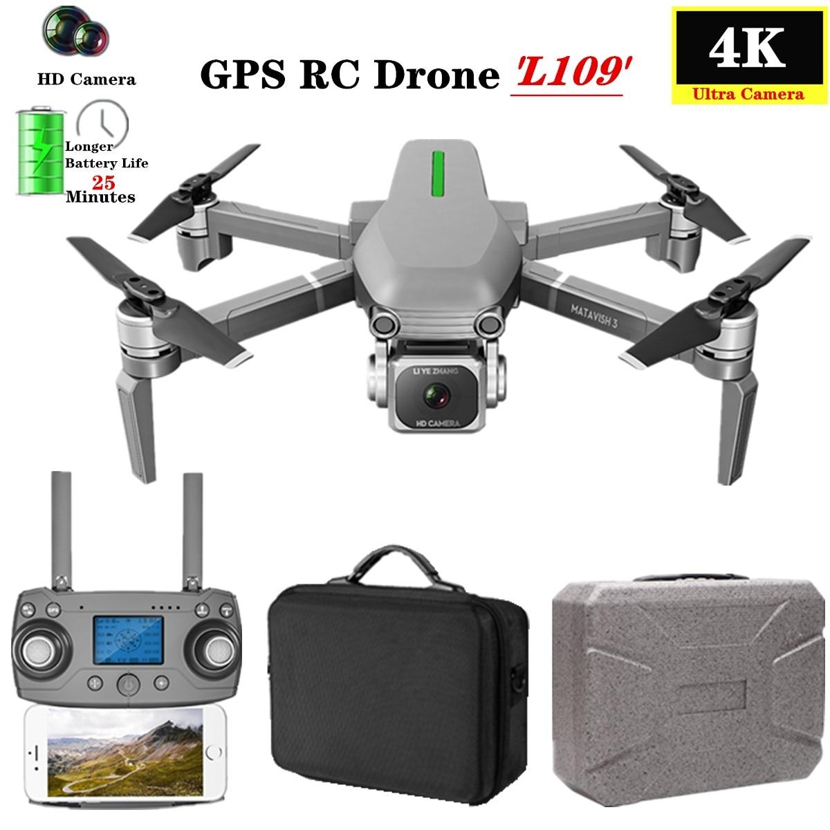 L109-S RC Drone Quadcopter 4K HD Cámara 5G WiFi GPS Drones con una tecla de retorno altura mantener 800m WiFi imagen distancia dron Juguetes