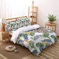 Ananas foglie di palma piante tropicali Set biancheria da letto lenzuola copripiumino Set per copriletto federa per la casa