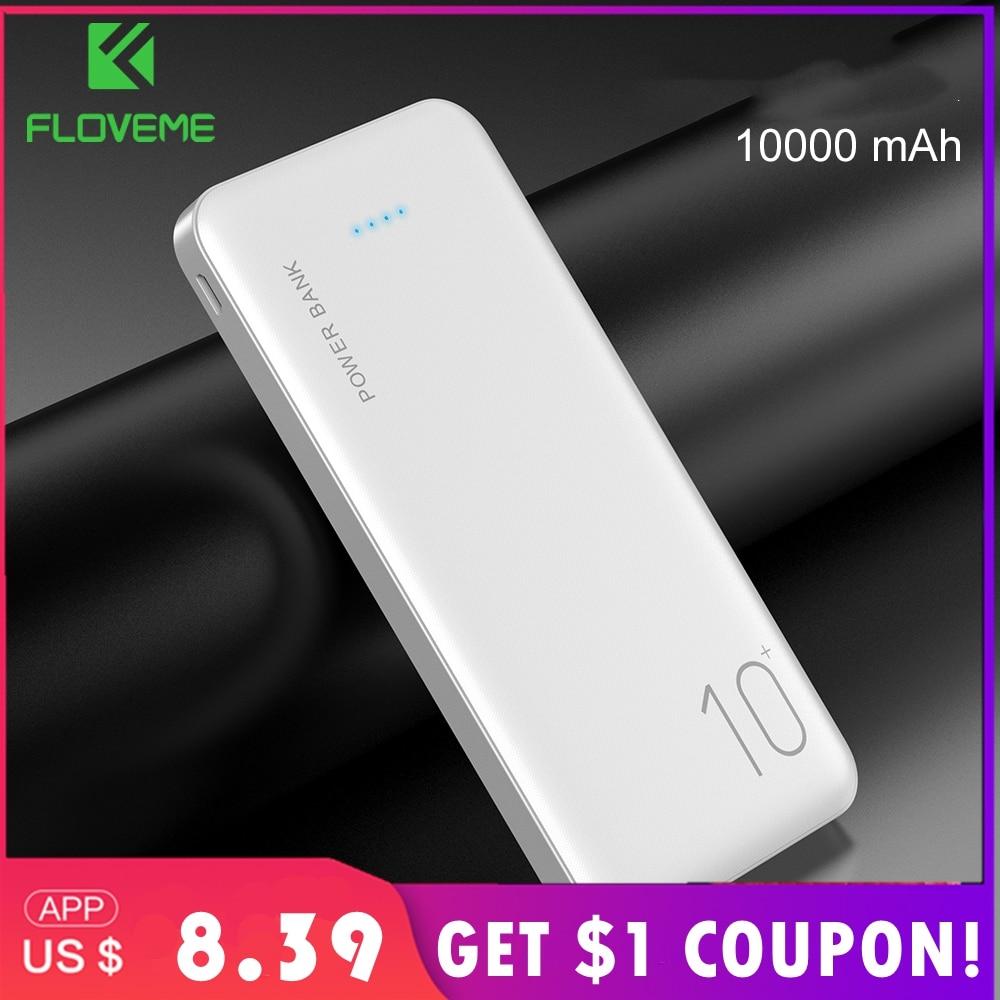 FLOVEME Power Bank 10000mAh Portable Charger For Samsung Xiaomi mi Mobile External Battery Powerbank 10000 mAh Poverbank Phone|Power Bank| |  - title=