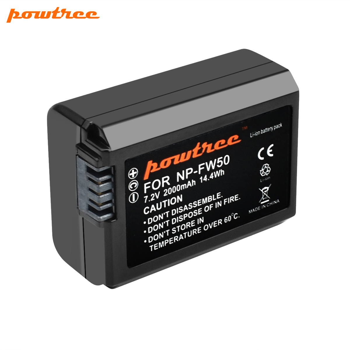 Powtree For <font><b>Sony</b></font> 3PCS 7.2V 2000mAh NP-FW50 NPFW50 NP FW50 Camera Battery For <font><b>Alpha</b></font> 6500 6300 6000 <font><b>5000</b></font> 3000 a7R a7S a7S II a7II image