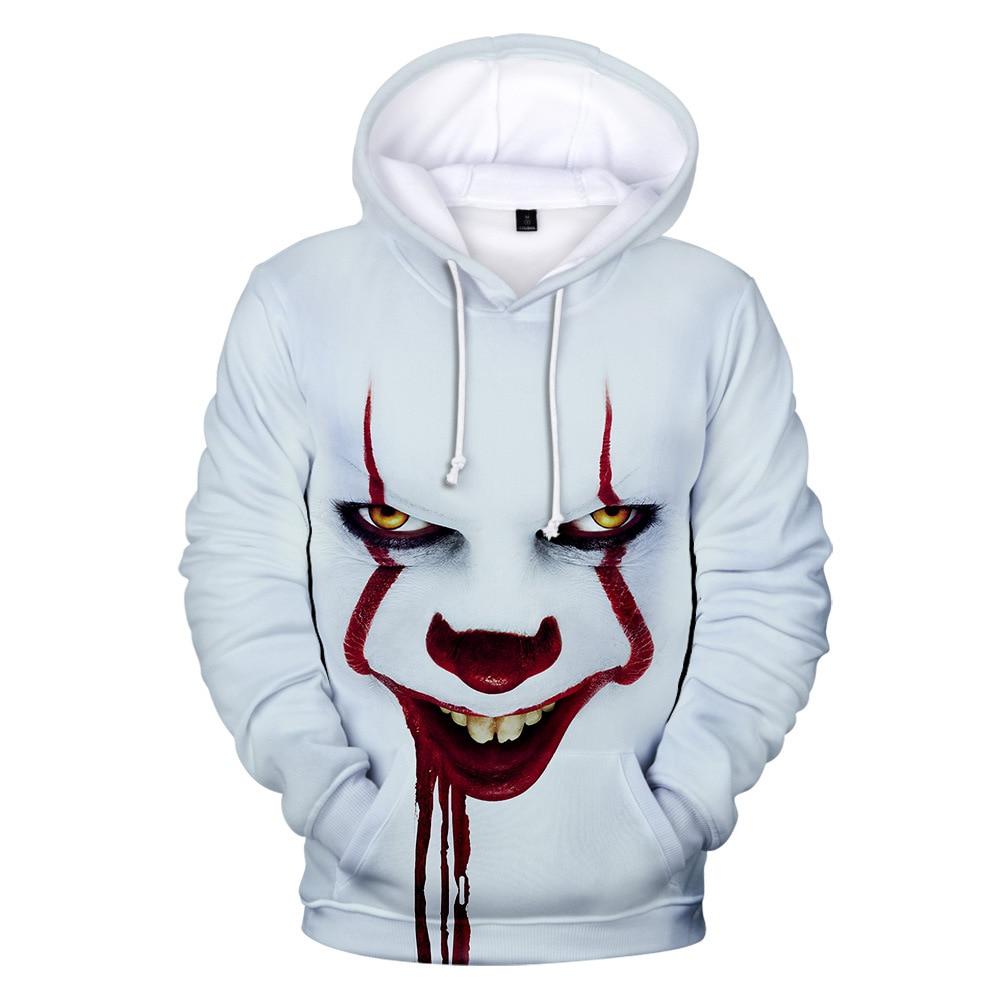 Pennywise Halloween Party Hoodies 3d for Kid Men Pop Harajuku Halloween Costume Idea Sweatshirt Cotton Plus Streetwear Drop Ship