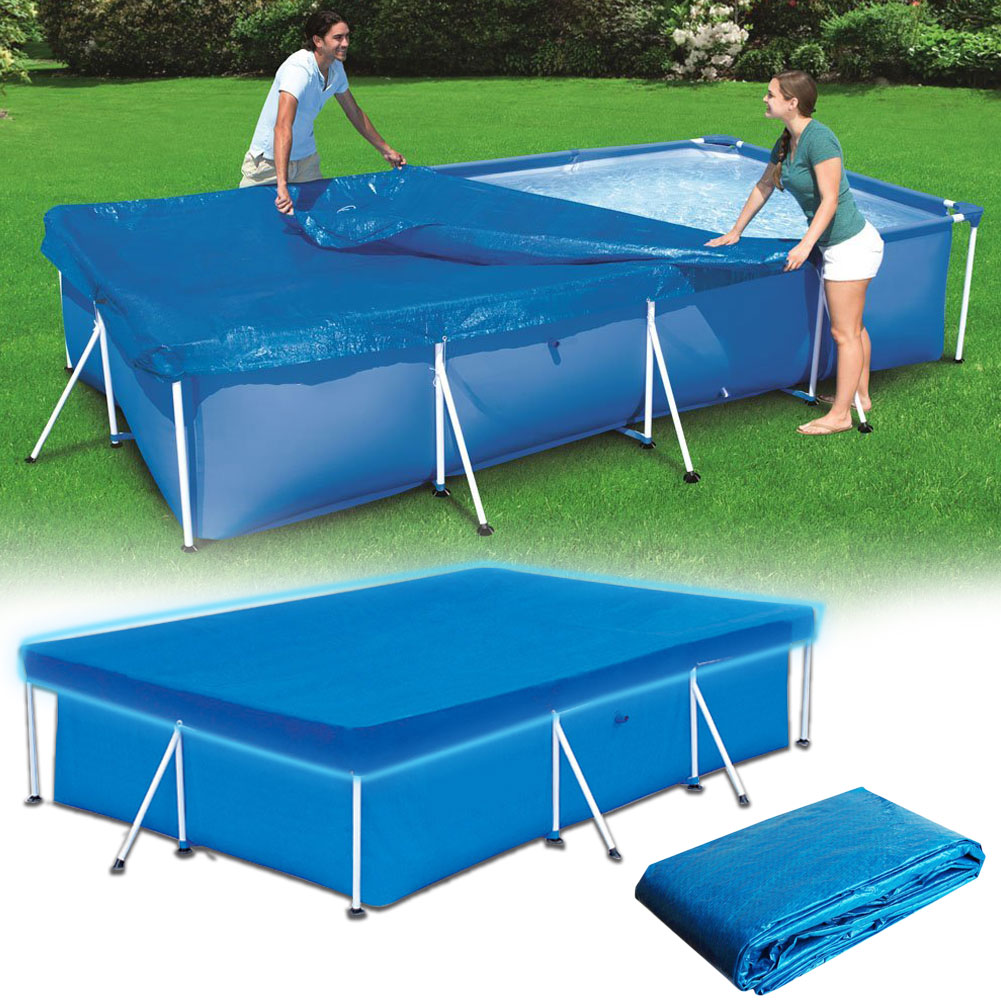 Square Swimming Pool Cover Dustproof Waterproof Floor Cloth Mat 2 Sizes For Outdoor Inflatable Pool Garden Accessories