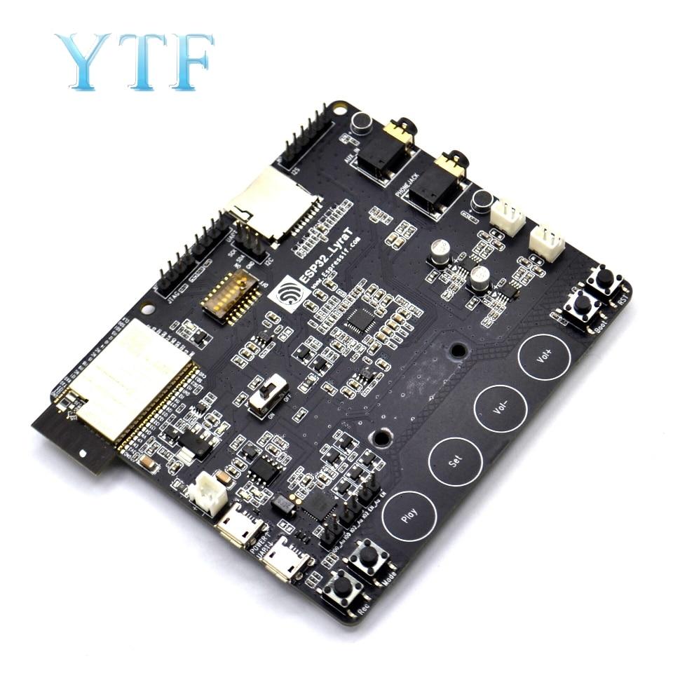 ESP32 LyraT لأدوات تطوير الصوت IC أزرار ، وعرض TFT والكاميرا المدعومة ESP32 ليرات ESP32 LyraTملحقات لوحة العرضالكمبيوتر والمكتب -