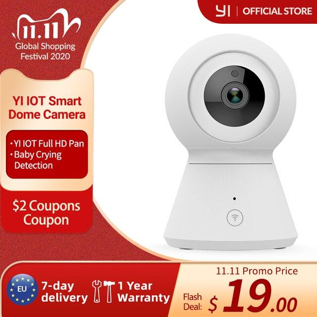 สมาร์ทกล้องโดม1080P PoweredโดยYI Pan/Tilt/Zoomไร้สายWi Fi IP Cam Security YI Cloud