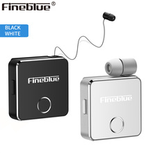 Newest Fineblue F1 Clip on Business Wireless Bluetooth Headset Vibrating Alert HD Sound Quality Earphone with Mic for iPhone X 8