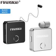 Più nuovo Fineblue F1 Clip on Business Auricolare Bluetooth Senza Fili di Vibrazione di Allarme Audio HD di Qualità del Trasduttore Auricolare con Il Mic per il iPhone X 8