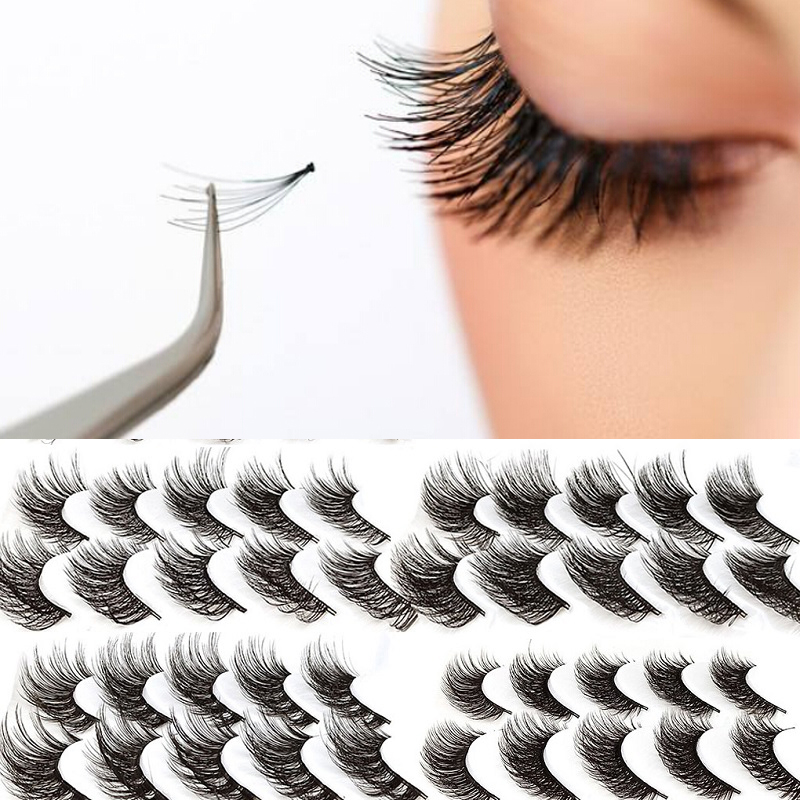 Hot 5 Pair 3D Natural Thick False Fake Eyelashes Eye Lashes Makeup Extension Faux Mink Maquillaje