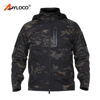 Men's Army Camouflage Jacket Military Tactical Jacket Autunm Waterproof Soft Shell Coat Hiking Jackets Windbreaker Hunt Clothes