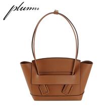 Torebki damskie Plumn damska torba na ramię z Lychee skóra licowa tanie tanio Wiadro Torby na ramię Prawdziwej skóry Skóra bydlęca WOMEN Stałe Medium Solid Genuine leather Shoulder bag