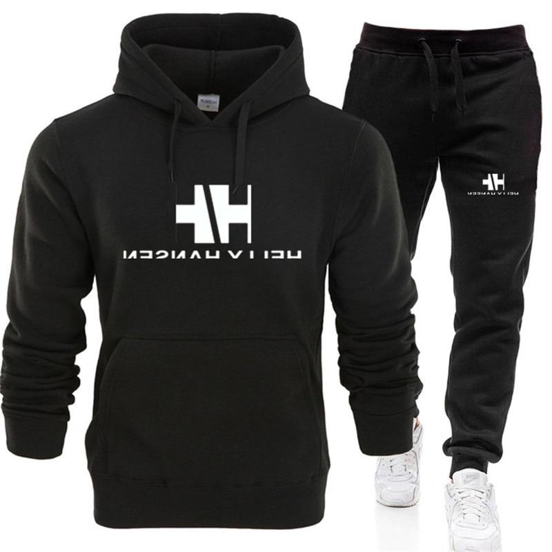 Hoodie Sweater Men's Long Sleeve Suit Spring Fashion Youth Student Suit Men's Fashion Autumn 2 Piece Suit