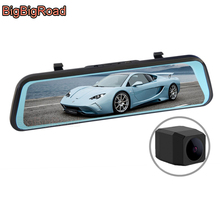 BigBigRoad Car DVR Dash Camera IPS Stream RearView Mirror Video Recorder For Great Wall Wingle 5 6 7 C30 C20R C50 M2 M4 V80 рулетка great wall seiko 7 5 10